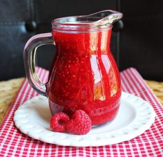 Homemade Raspberry Syrup -- I did this with fresh strawberries.  Was not happy with the color of the cake I used it in, but it did taste good and was amazing in the strawberry buttercream!