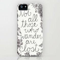 Those who wander iPhone Case by Studio 502 | Society6 on Wanelo