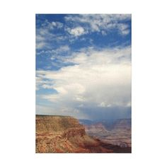 Photo canvas of a Summer Monsoon thunderstorm over  Grand Canyon National Park, Arizona, This scene was captured while hiking off-trail near Eremita Mesa west of Hermit's Rest on the South Rim of the Grand Canyon, Arizona. Original landscape travel photography by Tammy Winand.