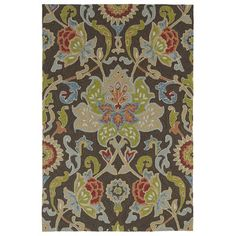 """Kaleen Home and Porch Multi-colored Tufted Indoor/Outdoor Area Rug Rug Size: Round 5'9"""""""