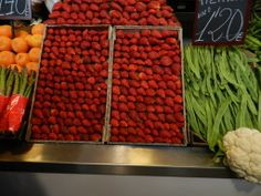 Fruit Market in Malaga - Fresh Strawberrries