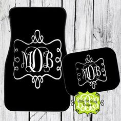 Does the inside of your car need a little fun and pizzazz? Get some monogrammed car mats with your favorite colors and design. Makes a great gift