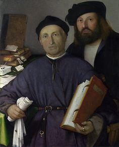 Lorenzo Lotto. Giovanni Agostino della Torre and his Son, Niccolo. Национальная галерея, 1513-16