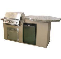 Bull BBQ Octi Q Island w/ Angus Grill storage and refrigerator.  Fun Outdoor Living can customize the island to fit your needs!