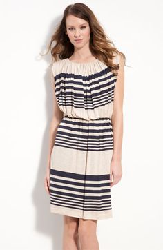 Love the mixed stripes on cream <3