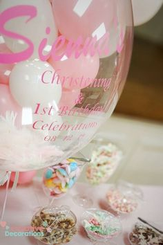 Pastel personalised bubble and sweet buffet Pastel Balloons, Giant Balloons, Confetti Balloons, Balloon Centerpieces, Balloon Decorations Party, Balloon Ideas, Sweet Buffet, Pastel Cakes, Personalized Balloons