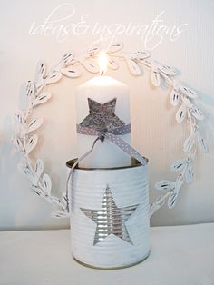 Konservendose, tin, Kerzenständer, candles