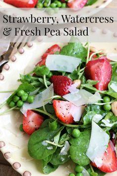 Strawberry, Watercress & Fresh Pea Salad | A Salad For All Seasons