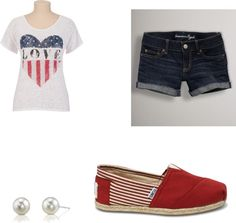 Fourth of July outfit :), created by molly-carpenter on Polyvore