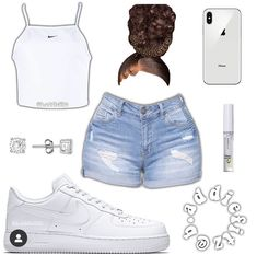 Cute Lazy Outfits, Baddie Outfits Casual, Swag Outfits For Girls, Teenage Girl Outfits, Cute Swag Outfits, Dope Outfits, Stylish Outfits, School Outfits, Looks Plus Size