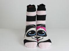 $10.5  Teddy Bear Socks Black Pink Striped Socks Bow Tie Funny Socks Ankle Socks Animal Socks Cute Fun Socks Cotton Animal Socks Hosiery echerpe by echerpe         #funsocks  #fringe  #animal  #Pashmina   #scarves   #Accessories   #happy   #socks  #accessory