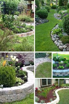 Garden edging is a fixed material that functions as a crisp border between beds and other areas. Various stylish garden edging ideas are available to build a well-designed landscape. Landscaping On A Hill, Landscaping With Rocks, Backyard Landscaping, Landscaping Ideas, Landscape Edging, Landscape Designs, Ideas Para El Patio Frontal, Lawn Edging, Garden Borders