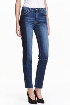 Slim Regular Patchwork Jeans   H M H m Fashion, Fashion Online, Spring  Fashion, Street 565815e9f94e