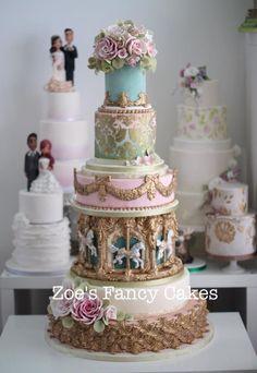 SO Beautiful. #weddingcakes Big Wedding Cakes, Luxury Wedding Cake, Amazing Wedding Cakes, Elegant Wedding Cakes, Elegant Cakes, Amazing Cakes, Gorgeous Cakes, Pretty Cakes, Cupcakes