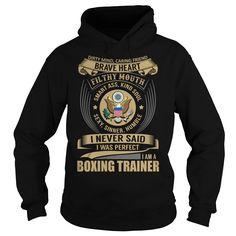 Boxing Trainer Brave Heart Job Title TShirt