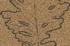 Brown nature Contemporary Graphic Mosaic by Artaic