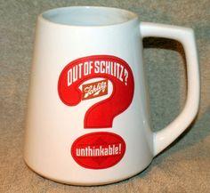 Schlitz Beer Out of Schlitz Unthinkable You're Out of Beer Large Mug Stein | eBay