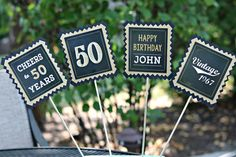 Let us add a CHARMING TOUCH to your event with our Masculine Adult Birthday Party Decoration Party Decorations! Our beautiful, custom party decorations will create a CHARMING TOUCH for your special occasion! Let us take care of all of your decor needs with the highest quality of personalized,