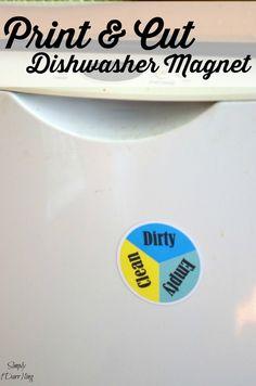 Print and Cut Dishwasher Magnet