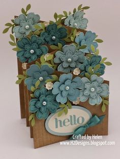 FLORAL CASCADE CARDS - see template for making card.
