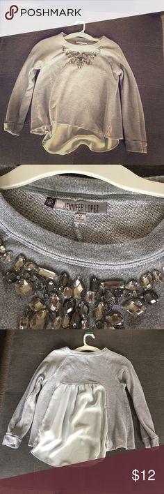 Jennifer Lopez dressy sweatshirt Jennifer Lopez dressy sweatshirt w jewels and flowy back Jennifer Lopez Tops Blouses