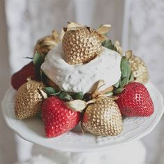 Painted Strawberry Desserts