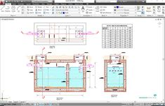 Full concept detail together with steel reinforcement for both the bottom foundation, interior and exterior walls together with proper sizing and positioning of all piping and fittings for a sewage septic tank. Septic Tank Size, Septic Tank Design, Septic Tank Systems, Septic System, Civil Engineering Design, Civil Engineering Construction, Construction Tools, Concrete Septic Tank, Tank Drawing