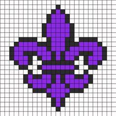flor de lis hama beads - Pesquisa Google