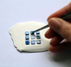 emuse: polymer clay pendant tutorial using glass mosaic tiles