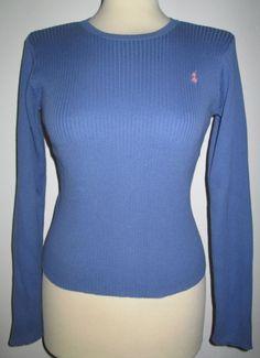 * * * RALPH LAUREN Ripp-Pullover blau, Gr.XL * * *