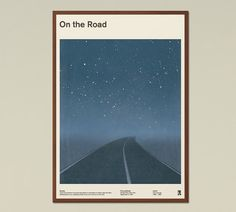 "Jack Kerouac ""On the Road"" - großes Buch Cover Poster, sofort-Download, druckbare Kunst, literarische Zitat Mitte Jahrhundert Modern, Home Decor"