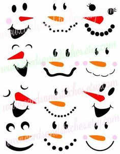 Bastelideen This snowman faces SVG digital cutting file is perfect for snowman. So you can put them Christmas Art, Christmas Projects, Winter Christmas, Christmas Ornaments, Christmas Wood Crafts, Christmas Wine Bottles, Christmas Quotes, Cricut Christmas Ideas, Craft Ideas