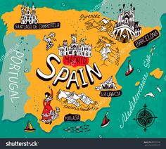 Image result for illustrated map