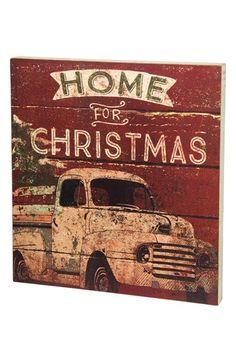 Home For Christmas box sign