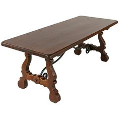 Spanish Renaissance Style Dining Table, Sofa Table, Console Table, Oak and Iron | From a unique collection of antique and modern dining room tables at https://www.1stdibs.com/furniture/tables/dining-room-tables/