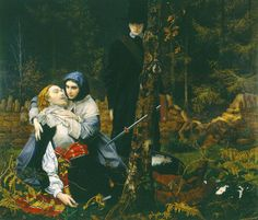 William Shakespeare Burton's 'The Wounded Cavalier - 1856