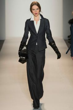 Rachel Zoe Fall 2013 Ready-to-Wear Collection Photos - Vogue Work Fashion, Fashion Show, Fashion Outfits, Fashion Design, Rachel Zoe, Terno Casual, Black And White Outfit, Trendy Suits, Glamour
