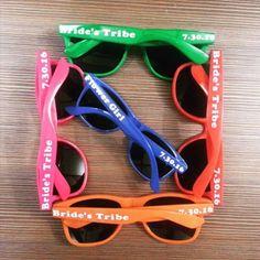 Personalized Sunglasses, Bulk, bachelorette party favors, bachelor party, birthday party favors, dance team, sports team promotions, 85 St