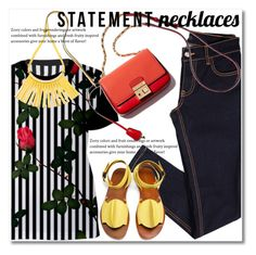 """""""Collared! Statement Necklaces"""" by svijetlana ❤ liked on Polyvore featuring Marni, TRACEY NEULS and statementnecklaces"""