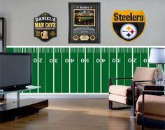 Steelers Bedroom Ideas steelers man cave!!! new years party | steelers | pinterest