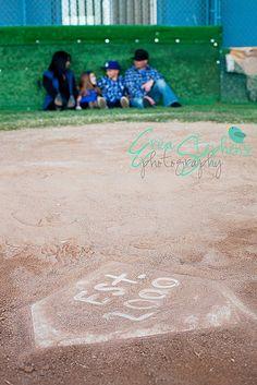 Baseball themed family photo session