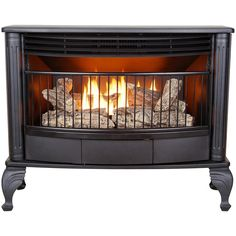 The Kozy World Bainbridge, vent free gas stove, is a dual fuel gas appliance that works with either propane or natural gas and is fuel efficient with an oxygen depletion sensor built in. The Bainb Gas Stove Fireplace, Vent Free Gas Fireplace, Fireplace Inserts, Gas Fireplaces, Fireplace Ideas, Faux Fireplace, Electric Fireplace, Ventless Propane Fireplace, Inglenook Fireplace
