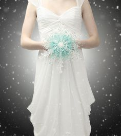 Hey, I found this really awesome Etsy listing at https://www.etsy.com/listing/170889950/crystal-snowflake-bridal-bouquet-aqua
