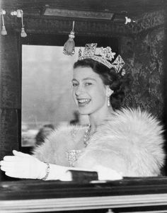 """the-british-royal-family-deacti: """" November Queen Elizabeth II on the way to Westminster to preside at the first State Opening of Parliament ceremony since her accession to the throne. Royal Uk, Royal Queen, Royal Clan, English Royal Family, British Royal Families, Windsor, Reine Victoria, Queen Victoria, Royal Tiaras"""