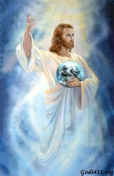 Jesus, Savior of the world.  He's got the whole world in His hands prophetic art painting.