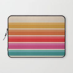 Retro Horizon #724 Laptop Sleeve by naturalcollective | Society6
