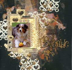 Featuring Scrap FX products:  Heart Spangles stamp, 100% Loveable word. www.scrapfx.com.au