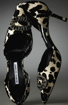 Manolo Blahnik Animal Print Heels Animalistic Fashion #UNIQUE_WOMENS_FASHION