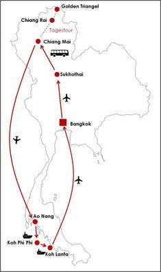 Reiseroute Thailand 2 Wochen (Rundreise) Source by opjueck_un_zuhuss Visit Thailand, Thailand Travel, Asia Travel, Thailand Honeymoon, Backpacking India, Backpacking South America, Budget Travel, Travel Tips, Food Travel