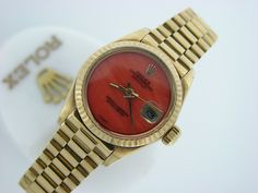 Rolex 18k Yellow Gold President Datejust Watch Date Pink Coral $8,000